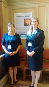 Belfast Area Domestic Violence Partnership members, Joanne Eakin (PSNI) and Clare Edgar (Solicitor from Francis Hanna & Co Solicitors) presented at European Conference on Legal Remedies Guidance.